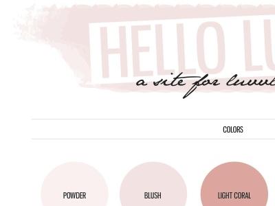 Hello Luvvly Blog Header graphic design logo design color palette