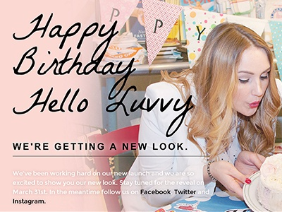 Hello Luvvy Landing Page uiux htmlcss graphic design