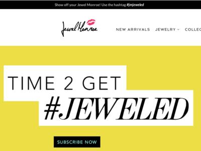 Jewel Monroe Ecommerce uiux htmlcss graphic design wordpress