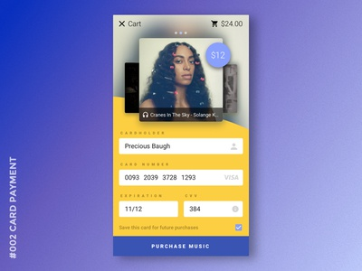Daily UI #002 Card Payment payment mobile user interface uiux dailyui