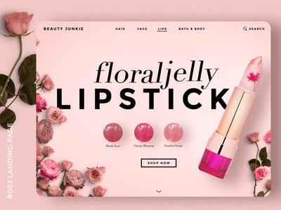 Daily UI #003 Landing Page website beauty payment desktop user interface uiux dailyui