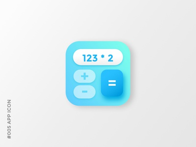 Daily UI #005 App Icon calculator app icon design mobile user interface uiux dailyui