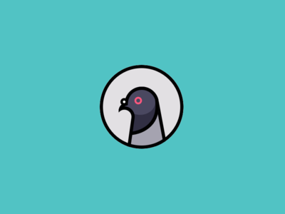 Pigeon nyc bird icon flat pigeon avatar illlustration