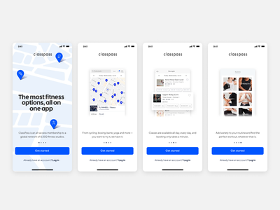 ClassPass Onboarding app classpass iphone x ios map fitness prototype framer walkthrough onboarding