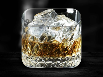 Cheers gloss app icon whiskey glass ice photoshop ios iphone cognac rocks