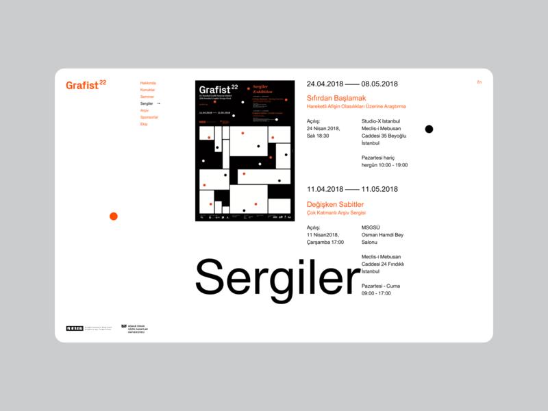 Grafist22 istanbul design days website ui