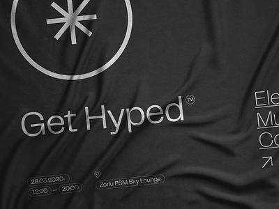 Get Hyped™ fol turkey istanbul logodesign identity conference music electronic icon branding logo