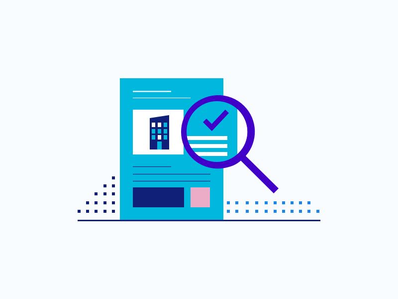 Explore blue paper illustration icon