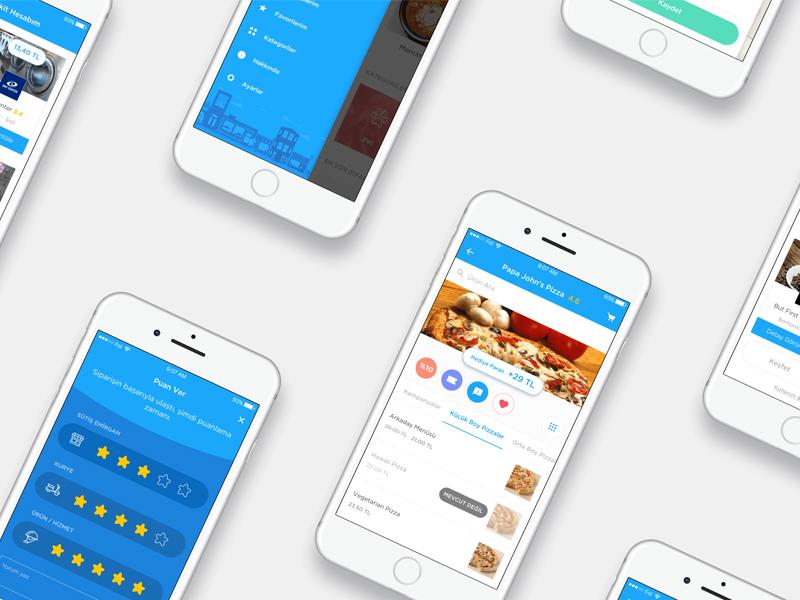 BiKoshu App website neighbors character illustration ux ui ipad shop sale blue mobile app