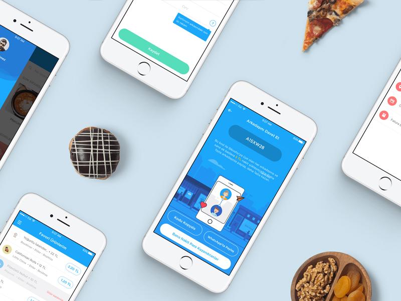 BiKoshu App turkey istanbul website neighbors illustration ux ipad shop sale blue mobile app