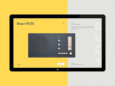 Braun R20 ux ui concept website minimal dieter rams radio braun