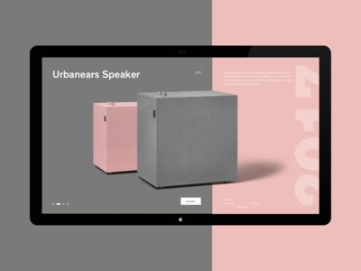 Urbanears turkey istanbul ux ui concept website minimal speaker urbanears