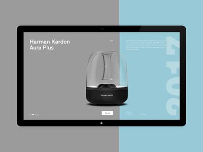 Harman Kardon turkey istanbul ux ui concept website minimal speaker harman kardon
