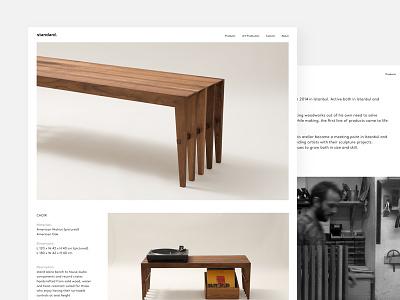 Standard standard turkey istanbul white ui handmade furniture minimal website