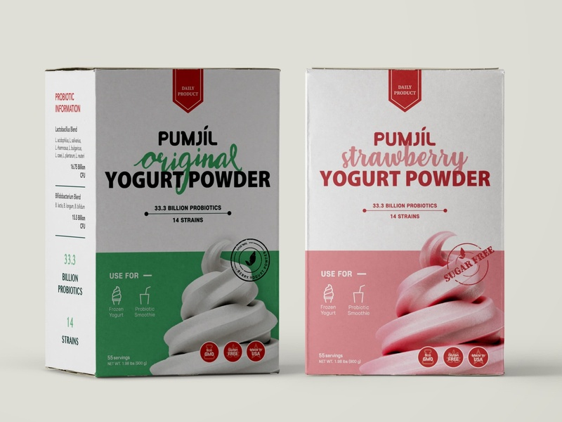 Yogurt Powder Package Design box design visual branding design packagedesign