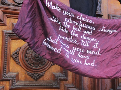 Bell c.s. lewis writing on silk gouache quotation scarf silk calligraphy hand lettering
