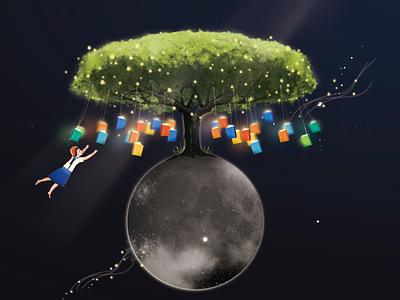 planet planet graphic art illustration digital design creative character cartoon 2d