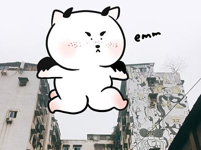 emm monster graphic art illustration digital design creative character cartoon 2d