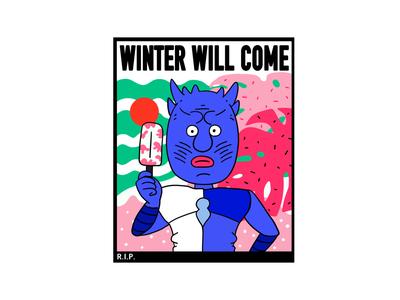 Game of Thrones-night king fun graffiti graphic illustration digital design creative character cartoon 2d