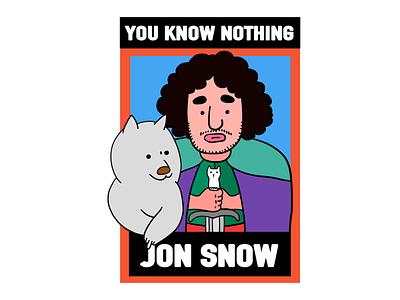 Game of Thrones-Jon Snow graffiti graphic art illustration digital design creative character cartoon 2d