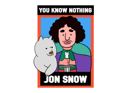 Game of Thrones-Jon Snow graffiti graphic art illustration digital design creative character cartoon 2d