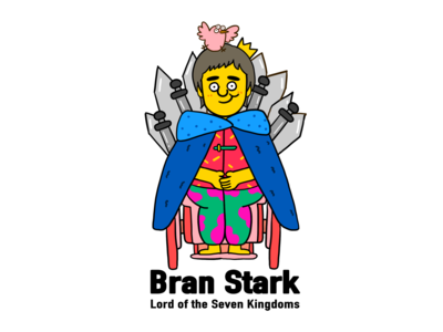 Game of Thrones-Bran Stark flat graffiti art illustration digital design creative character cartoon 2d