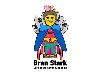 Game of Thrones-Bran Stark flat graffiti art illustration digital design creative character cartoon 2d