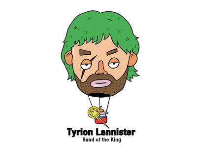 Game of Thrones-Tyrion Lannister graphic flat art illustration digital design creative character cartoon 2d
