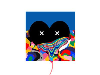 Love is Love-mixture color flat graphic graffiti illustration digital design creative heart cartoon 2d