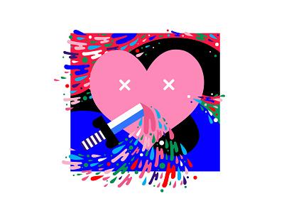 Love is Love-sorrows branding flat color graphic art creative design illustration digital sword heart 2d