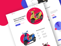 tvs scooty landing page