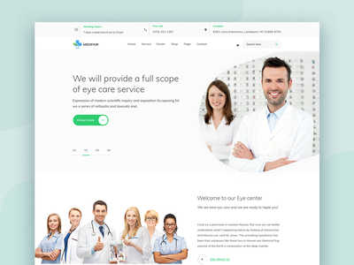 Eye Care  website icon ui typography medical website dentist fitness clean doctor app modern hospital medical health clinic doctor eye care