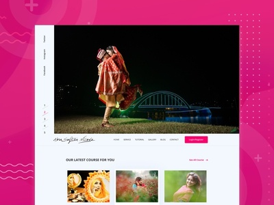 Photography website ux ui minimal website photography agency agency fashion landing page design modern portfolio creative photoshoot photograhy