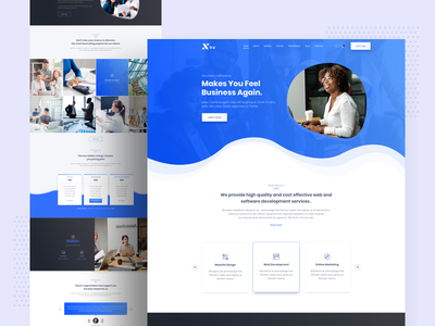 Xtra Business landing page inspiration minimal website ux ui trend startup branding creative landing colorful gradient webdesign typography agency 2019 trend landing page design