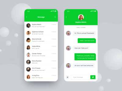 Messenger for car booking app #3