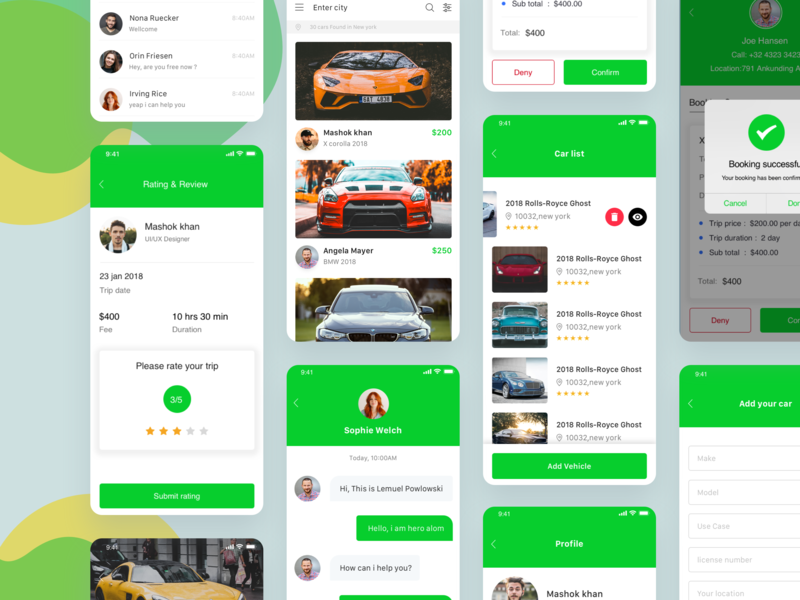 Car booking Full app full apps full project car car-booking photography car search trend 2019 creative travel app app design app ios app ui clean clientwork awesome car