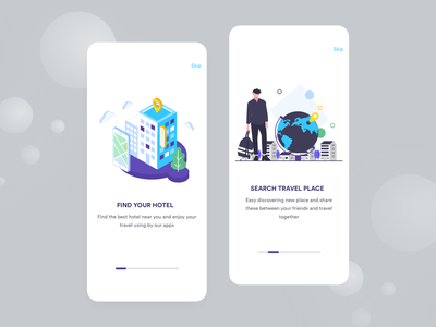 Travel App Onboarding hotel booking find hotel bus booking onboarding screen illustrations onboarding exploration clean ui ios app app app design travel app creative trend 2019 car search full apps