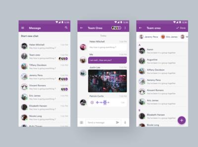 Messaging Apps new chat chat group chat messenger clean typography illustration app design design app inspiration minimal ui design android app health caregiver ui ux