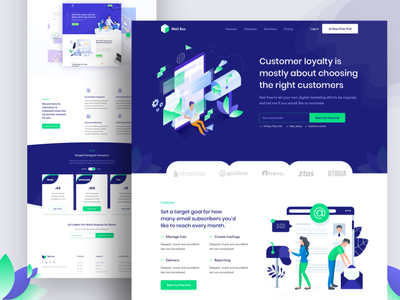 Email Marketing Landing page clean inspiration ux ui typography agency landing page animation marketing agency website email marketing landing page business agency