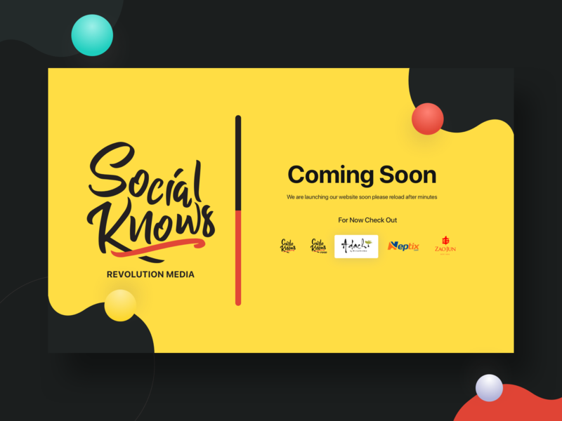 Revolution Media Coming soon working landing page company website web inspiration creative ux ui typography promo grid interaction design coming soon page brand anim