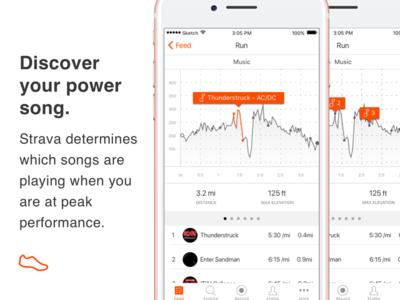 Strava + Spotify integration concept for mobile