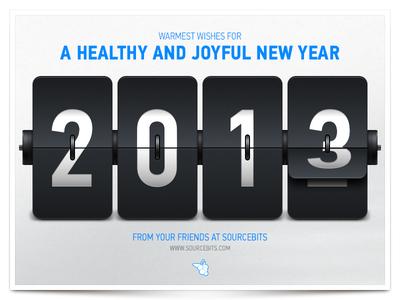 Happy New Year 2013! (+PSD)