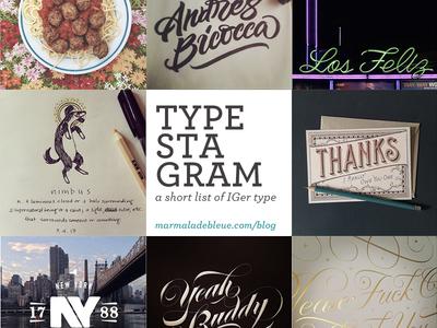 Typestagram Instagram And Dribbble