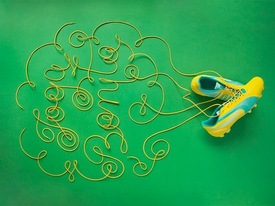 World Cup Shoelace Type joga bonito dimensional lettering soccer world cup shoelaces yellow typography type lettering illustration futbol