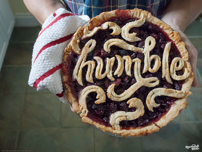 Humble Pie Type humble pie food type food typography baking type script cherry design graphic design food