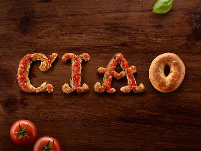 Italian Bruschetta Food Type food typography lettering type ciao food lettering food typography food type italian bruschetta