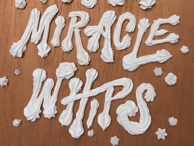 Kanyegg: I Push Miracle Whips handlettering illustrator baked whips food illustration typography type hand lettering lettering dimensional type food art food lettering food typography food type kanye kanyegg