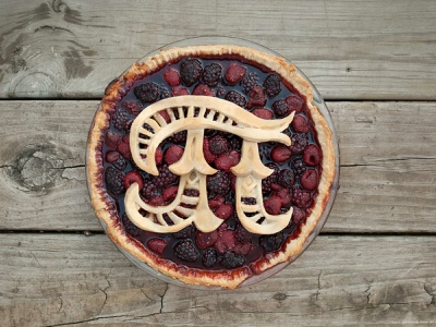 Pi Day Pie typography type hand lettering lettering dimensional lettering dimensional type food type food lettering food typography pie pi day
