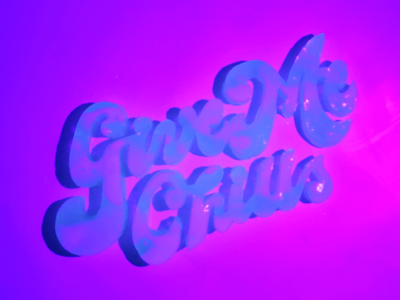 Jello Glow Food Typography