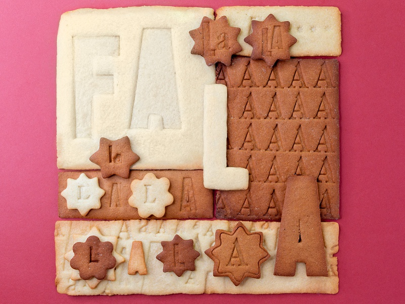 Letterpressed Holiday Cookie Type biscuit typographie typo food design type letterpress cookie holiday food lettering food typography hand lettering typography lettering
